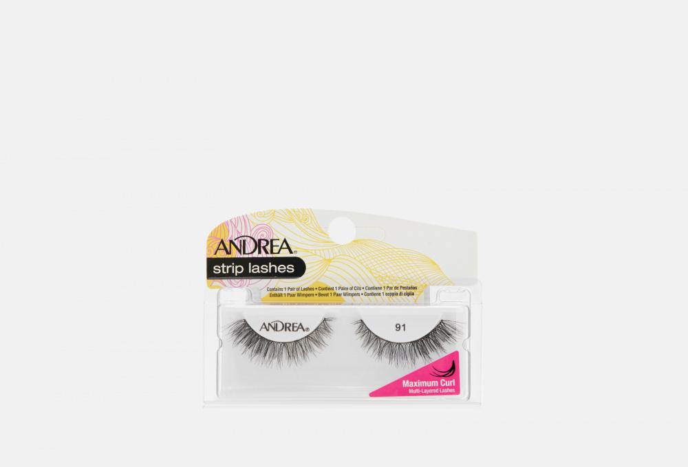 Фото - Накладные ресницы ANDREA Strip Lashes Mega Curl Style 91 накладные ресницы strip lashes brown no 53