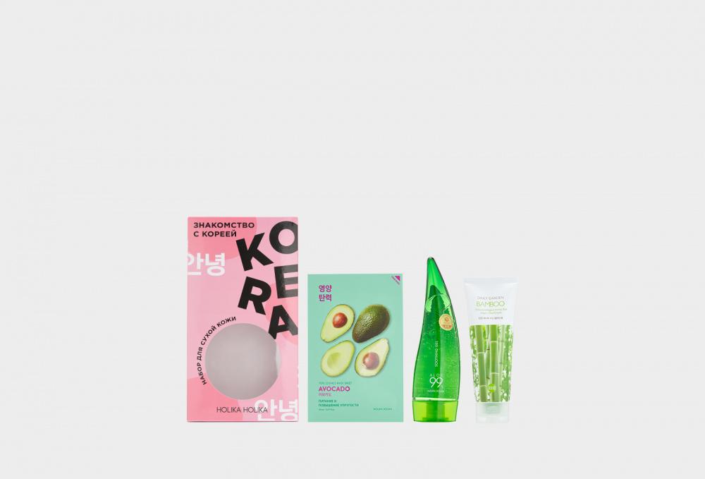 holika holika piece matching nails care dip Знакомство с Кореей Набор для ухода за сухой кожей HOLIKA HOLIKA Dry Skin Care Kit