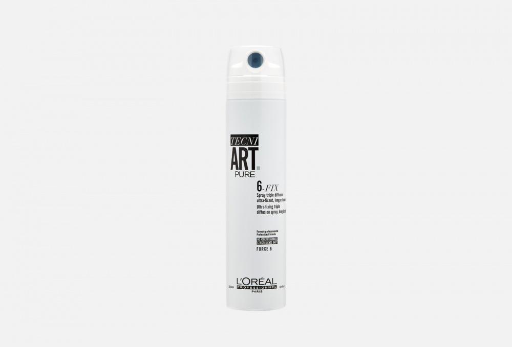 Фото - Спрей для фиксации волос L'OREAL PROFESSIONNEL Tecni.art 6-fix Pure 250 мл l oreal professionnel tecni art 6 fix pure спрей для фиксации волос 250 мл