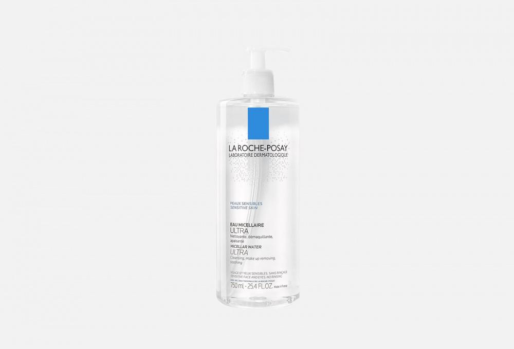 Фото - Мицеллярная вода для чувствительной кожи LA ROCHE-POSAY Micellar Water Ultra 750 мл la roche posay мицеллярная вода для чувствительной и склонной к аллергии кожи лица и глаз ultra reactive 200 мл