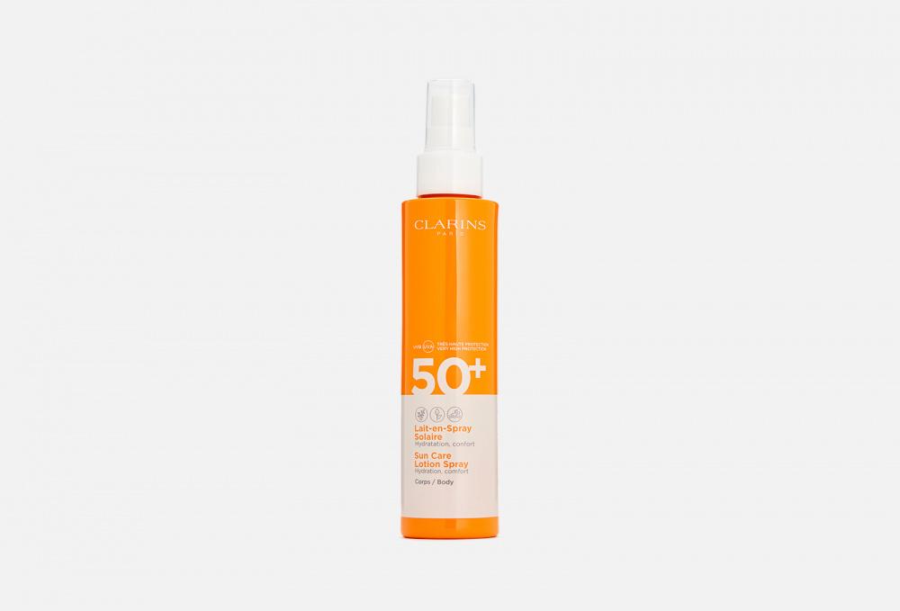 Солнцезащитное молочко-спрей для тела spf 50+ CLARINS Lait-en-spray Solaire Corps 150 мл недорого