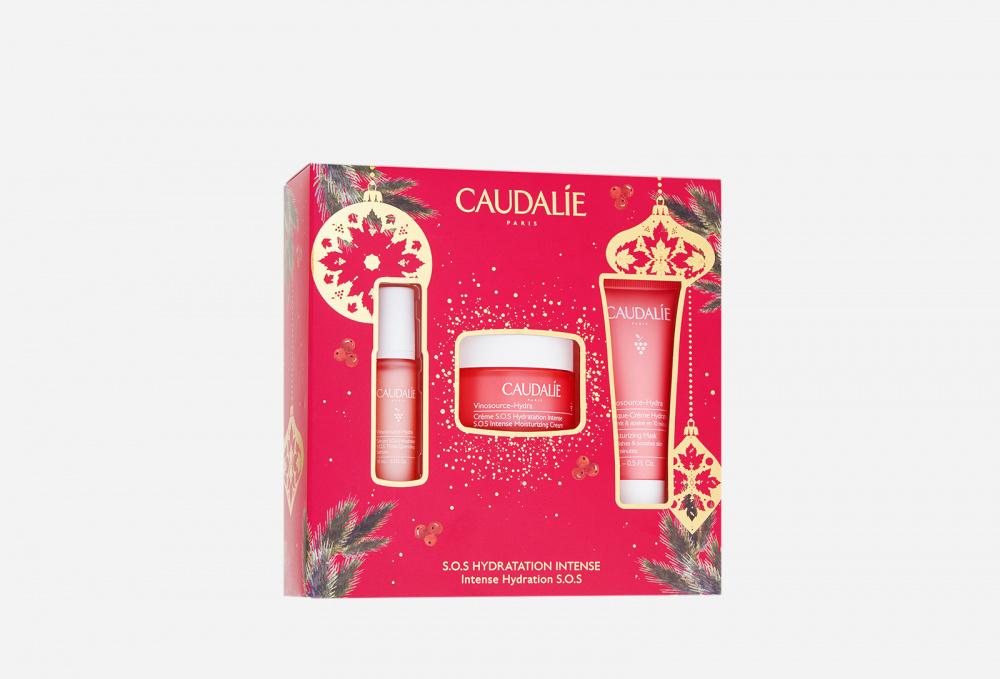 Фото - Набор для интенсивного увлажнения кожи CAUDALIE Vinosource-hydra Crème Sos Jar Set ночное восстанавливающее масло для лица vinosource hydra 30мл