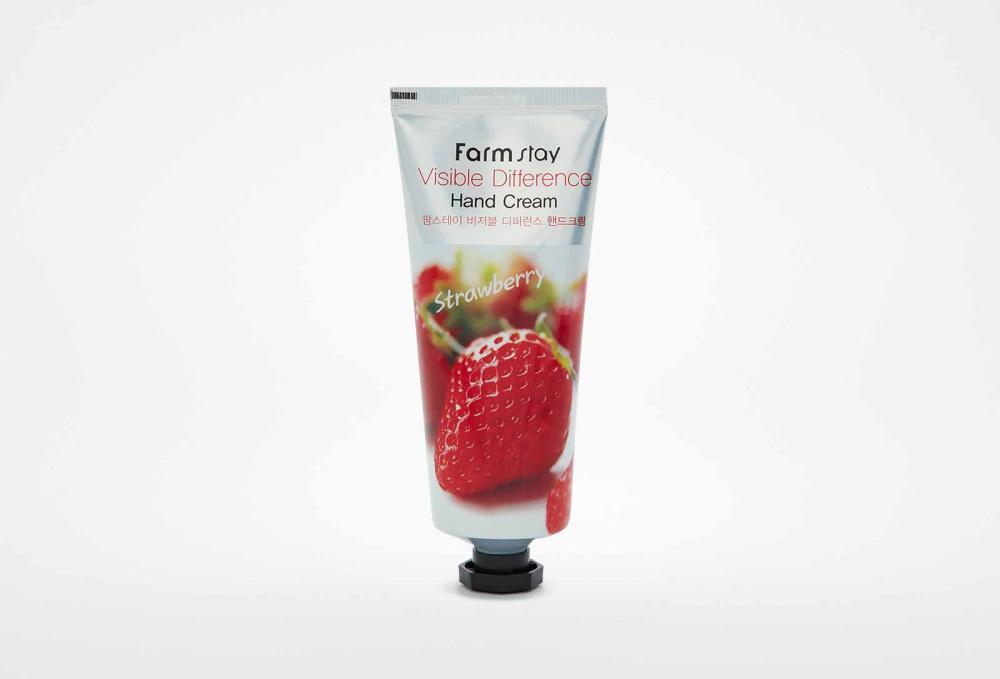 Крем для рук с экстрактом клубники FARM STAY Visible Difference Hand Cream Strawberry 100 мл недорого