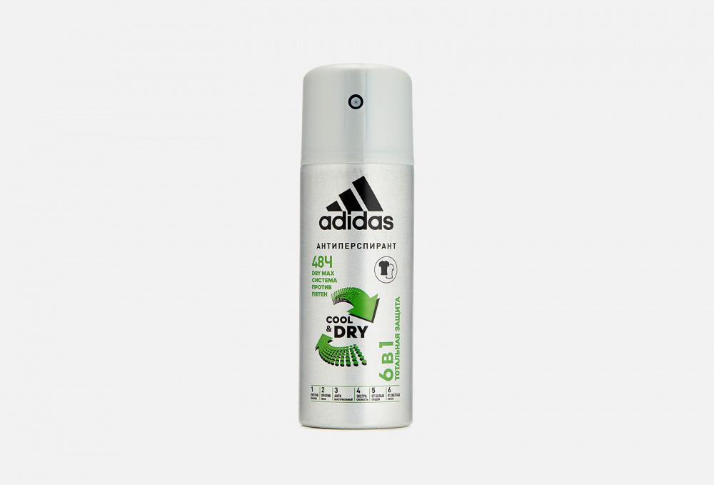 Дезодорант-спрей 6в1 ADIDAS Cool & Dry 150 мл дезодорант антиперспирант спрей adidas 6 в 1 150 мл