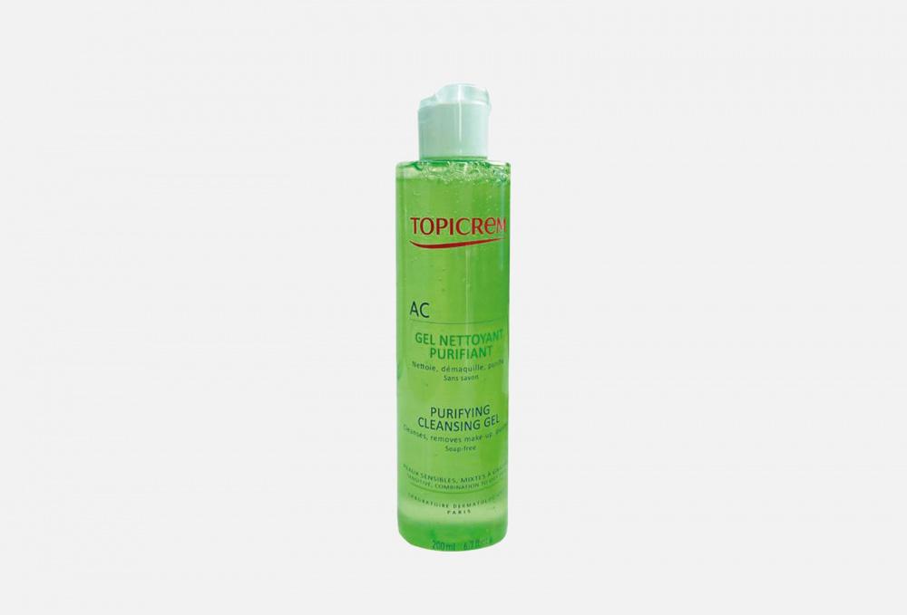 Фото - Очищающий гель для жирной и комбинированной кожи TOPICREM Ac Purifying Cleansing Gel 200 мл topicrem гель pv cleansing gel очищающий с антимикотическим эффектом pv 200 мл