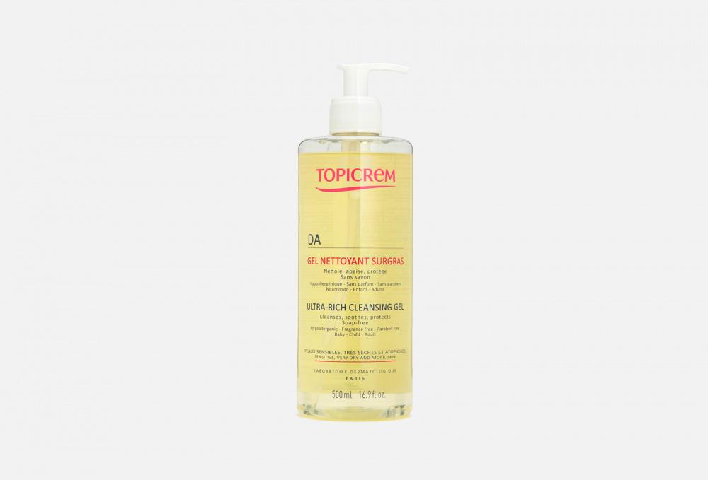 Фото - Очищающий гель для атопичной кожи TOPICREM Ad Ultra-rich Cleansing Gel 500 мл topicrem гель pv cleansing gel очищающий с антимикотическим эффектом pv 200 мл