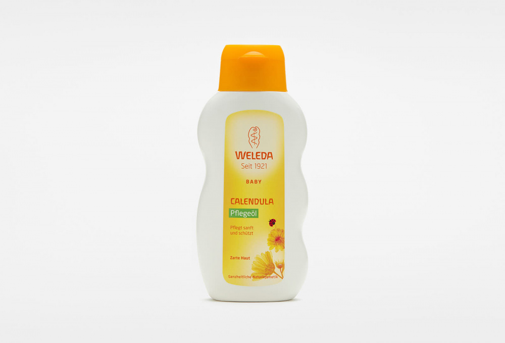 Фото - Масло для младенцев с календулой с нежным ароматом WELEDA Calendula Oil 200 мл weleda паста calendula зубная с календулой без запаха мяты 75 мл