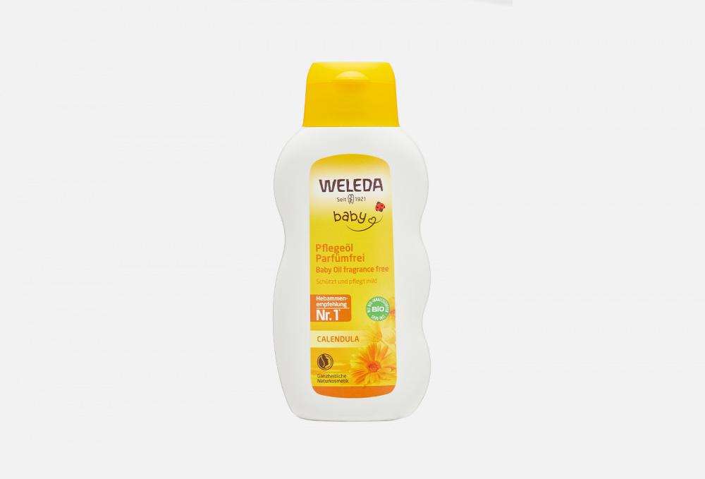 Фото - Масло для младенцев с календулой WELEDA Calendula Oil 200 мл weleda паста calendula зубная с календулой без запаха мяты 75 мл