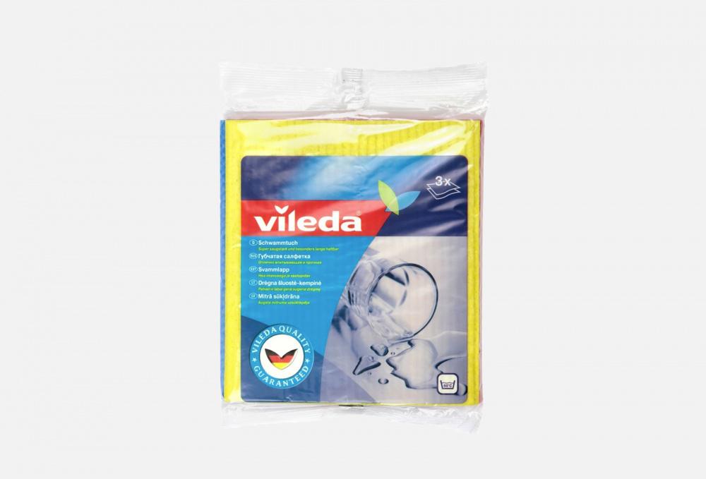Салфетка бытовая VILEDA Губчатая 3 мл
