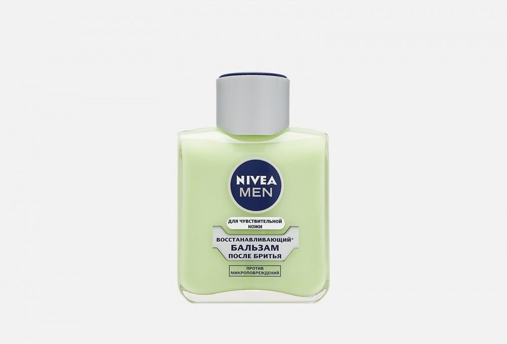 Фото - Бальзам после бритья восстанавливающий для чувствительной кожи, без содержания спирта NIVEA Men 100 мл гель для бритья для чувствительной кожи восстанавливающий nivea 200 мл
