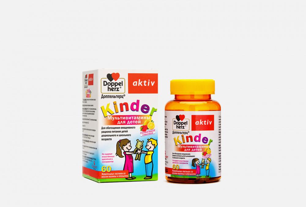 Фото - Мультивитамины для детей со вкусом малины и апельсина с 4-х лет DOPPELHERZ Kinder 60 мл биологически активная добавка arum vitamin c 75 мл