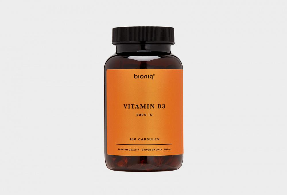 Биологически активная добавка к пище BIONIQ Vitamin D3 2000 Iu 180 мл cal mag citrate with vitamin d3