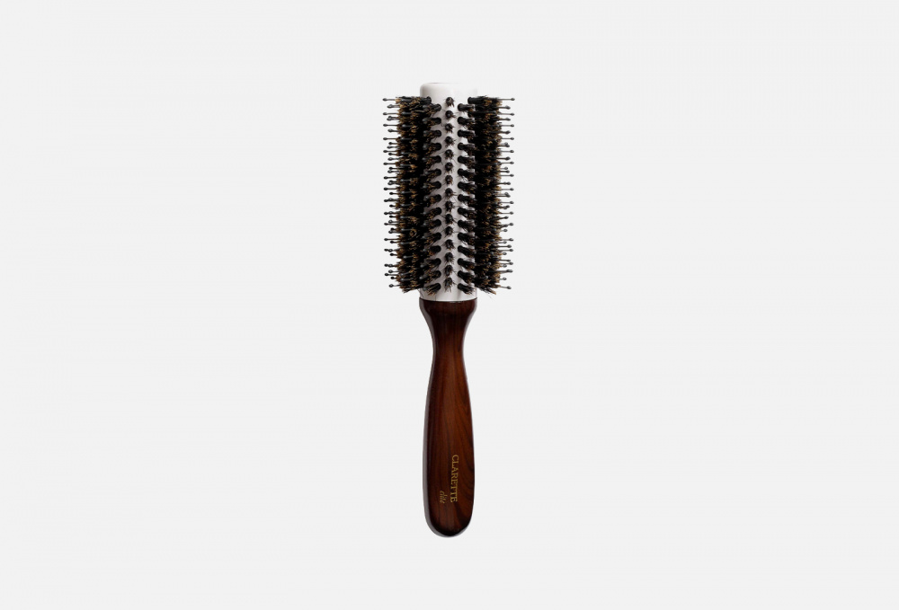 Щетка для волос круглая с натуральной щетиной кабана и керамическим корпусом CLARETTE С Натуральной Щетиной Кабана И Керамическим Корпусом 1 мл