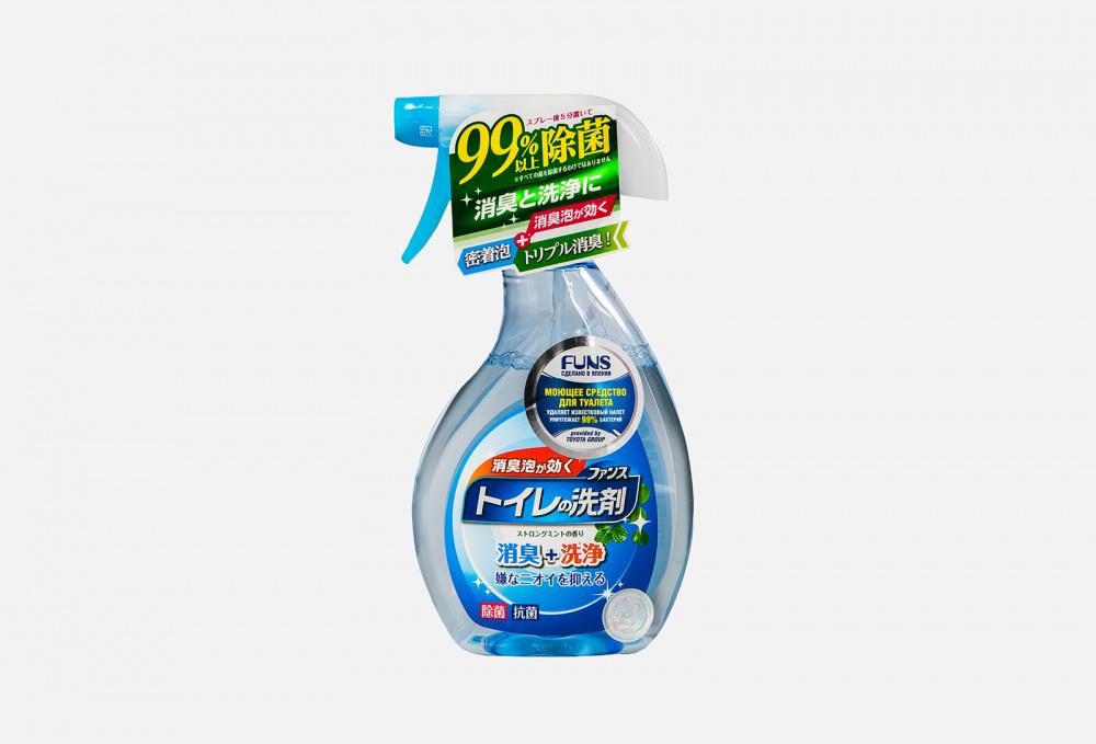 Фото - Средство моющее для туалета с ароматом мяты FUNS Spray Mint 380 мл funs спрей для ванной комнаты с ароматом апельсина и мяты 0 38 л