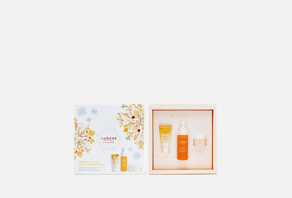 Фото - Подарочный набор для сияния кожи LUMENE Nordic-c [valo] Glow Enhancing Set очищающий гель скраб для лица придающий сияние nordic c [valo] 125мл