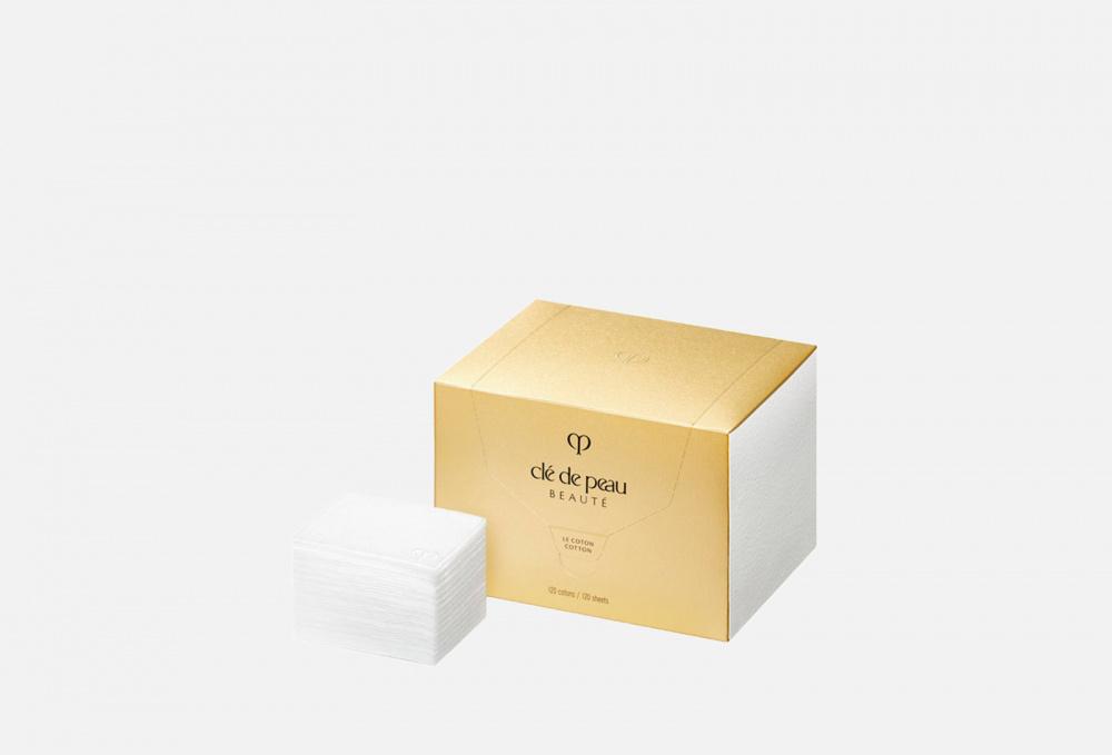 Ватные подушечки CLE DE PEAU BEAUTE Cotton 120 мл пуховка для прозрачной рассыпчатой пудры cle de peau beaute puff translucent loose powder 1 мл