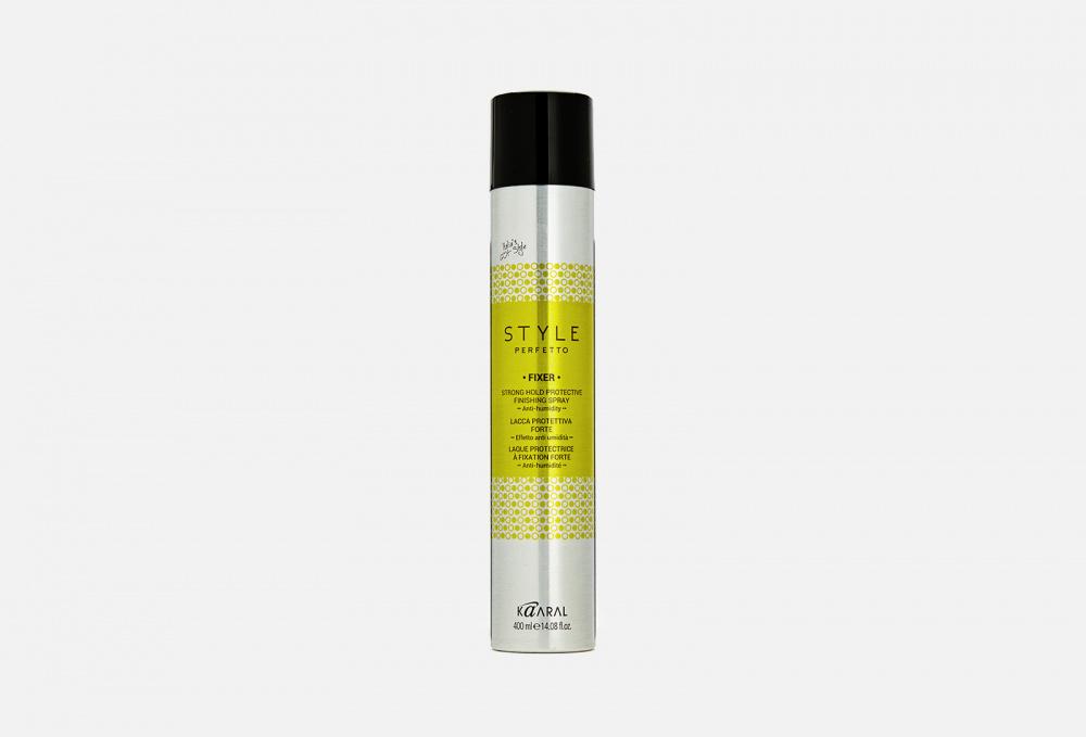 Защитный лак для волос сил фиксации KAARAL Style Perfetto Fixer Strong Hold Protective Finishing Spray 400 мл недорого