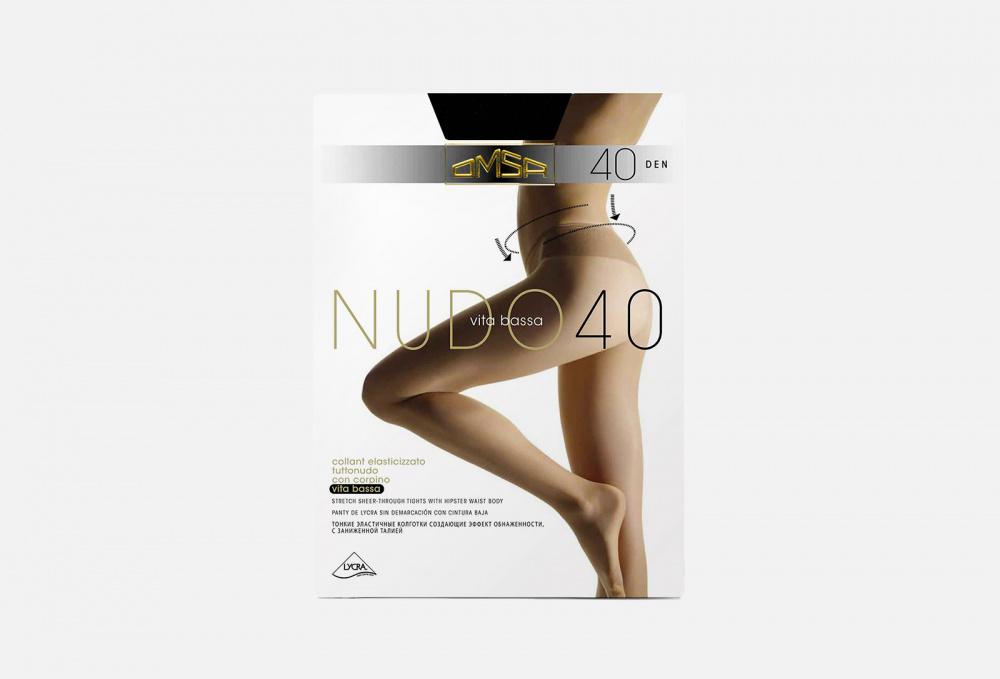 Колготки 40 den OMSA Nudo Vita Bassa Nero 4 мл
