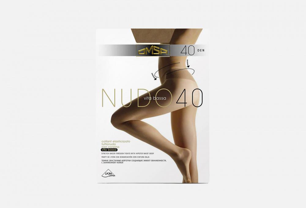 Колготки 40 den OMSA Nudo Vita Bassa Caramello 4 мл