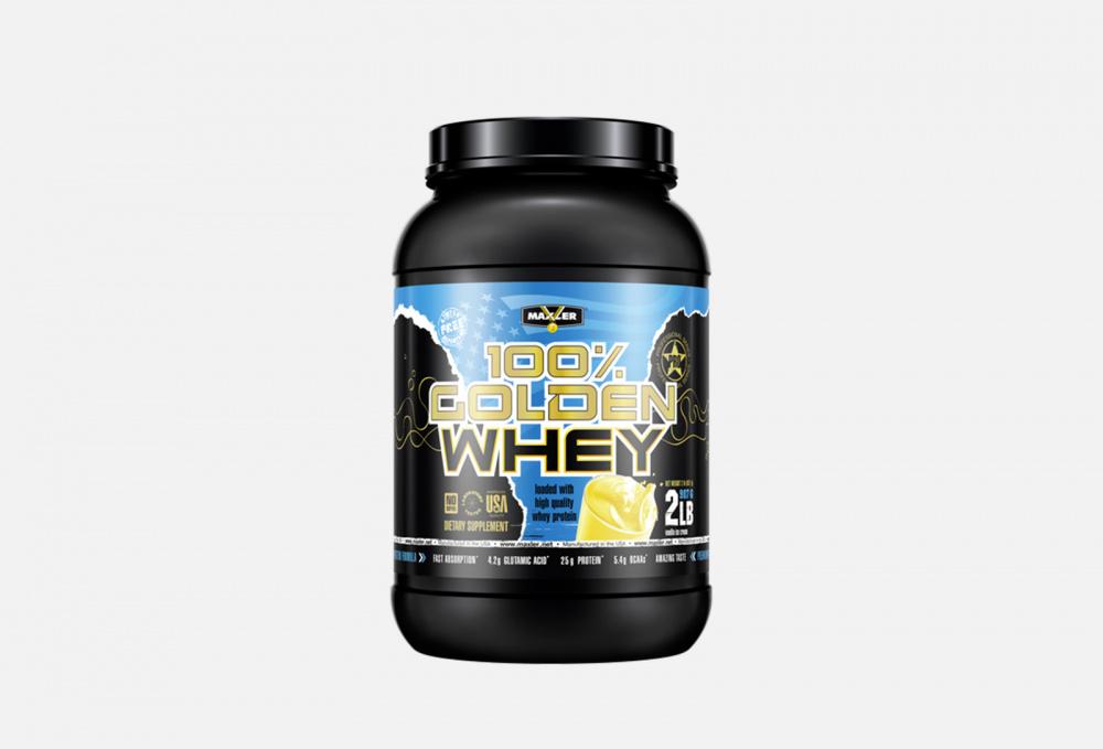 Протеин со вкусом ванили MAXLER 100% Golden Whey 908 мл протеин со вкусом насыщенного шоколада maxler 100% golden whey 2270 мл