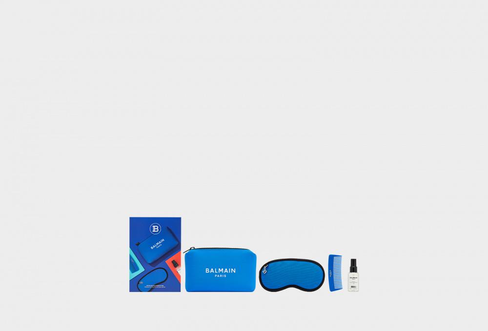 Косметичка лимитированной в кобальтово-синем цвете BALMAIN PARIS Care&styling Ss2021 50 мл