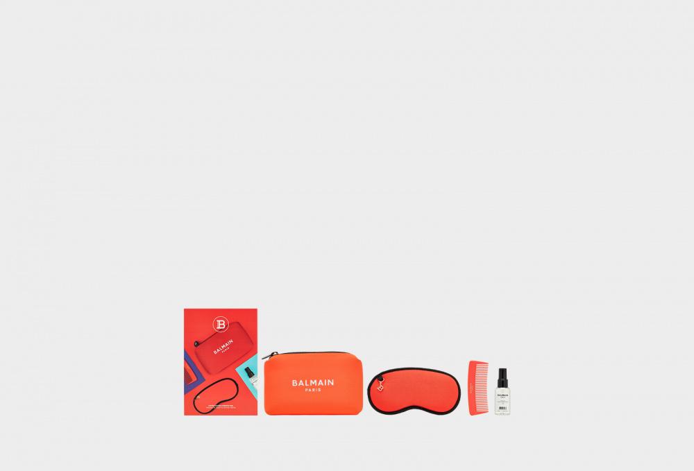 Косметичка лимитированной кораллово-красный BALMAIN PARIS Care&styling Ss2021 50 мл