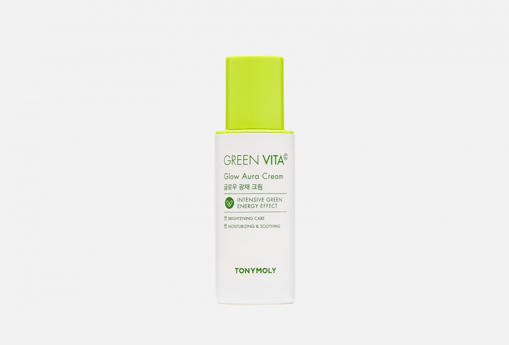 Крем для лица с витамином c TONY MOLY Green Vita C Glow Aura Cream 50 мл концентрат для автозагара с витамином c nordic c midsummer glow self tan drops 30мл