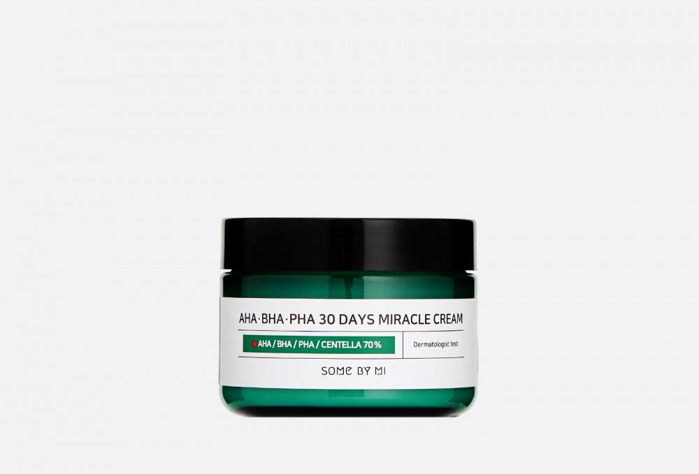 Крем с aha/bha/pha кислотами для проблемной кожи SOME BY MI Aha-bha-pha 30 Days Miracle Cream 60 мл meishoku разогревающий и очищающий крем гель с aha и bha кислотами 200 г