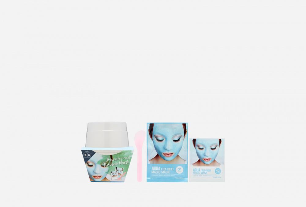 Фото - Альгинатная маска с маслом чайного дерева (пудра+активатор) LINDSAY Aqua (tea-tree) Magic Mask альгинатная маска для лица с маслом чайного дерева cool tea tree modeling mask cup pack 28г