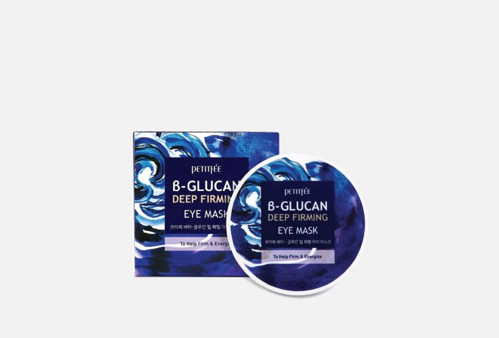 Глубоко увлажняющие тканевые патчи PETITFEE B-glucan Deep Firming 60 мл подтягивающий крем против темных кругов под глазами с нейропептидами neuropeptide firming