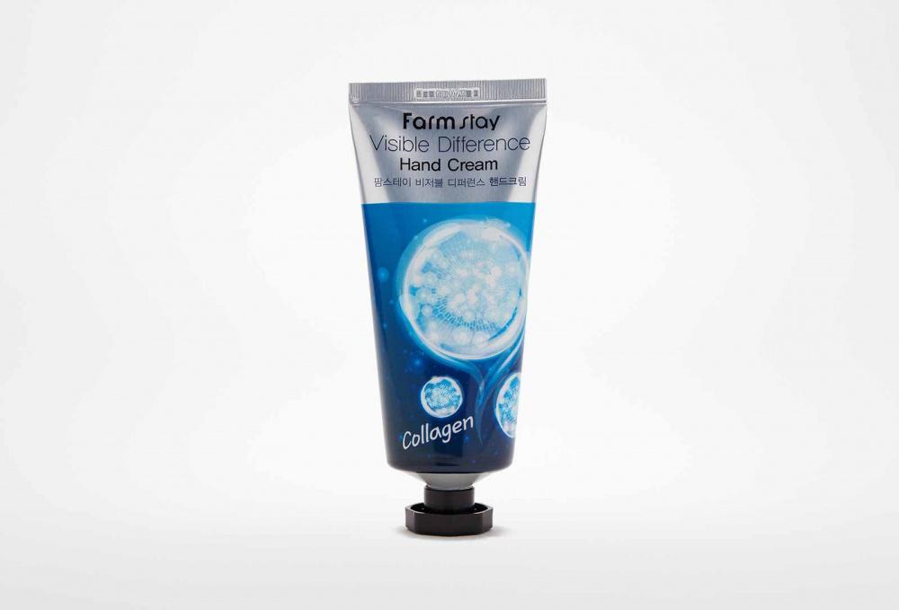 Фото - Крем для рук с коллагеном FARM STAY Visible Differerce Hand Cream Collagen 100 мл крем для рук с коллагеном 7% natural s o s hand cream collagen 500мл