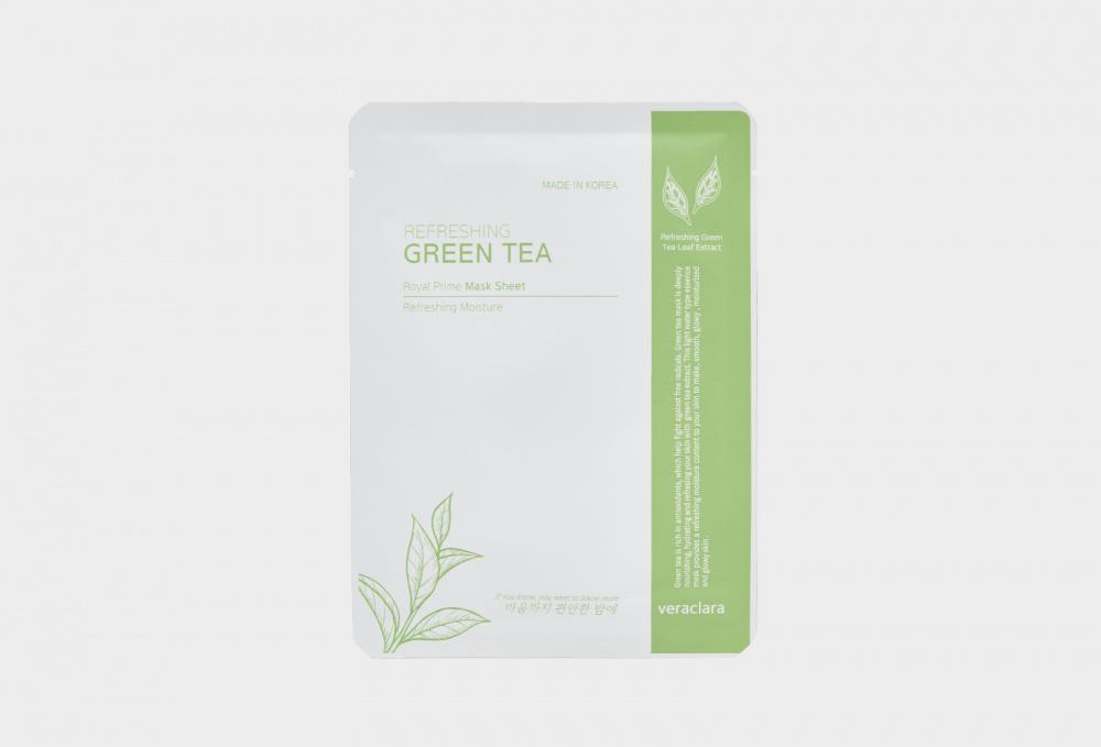 Маска на тканевой основе с зеленым чаем CLARA'S CHOICE Green Tea Mask Sheet 1 мл недорого