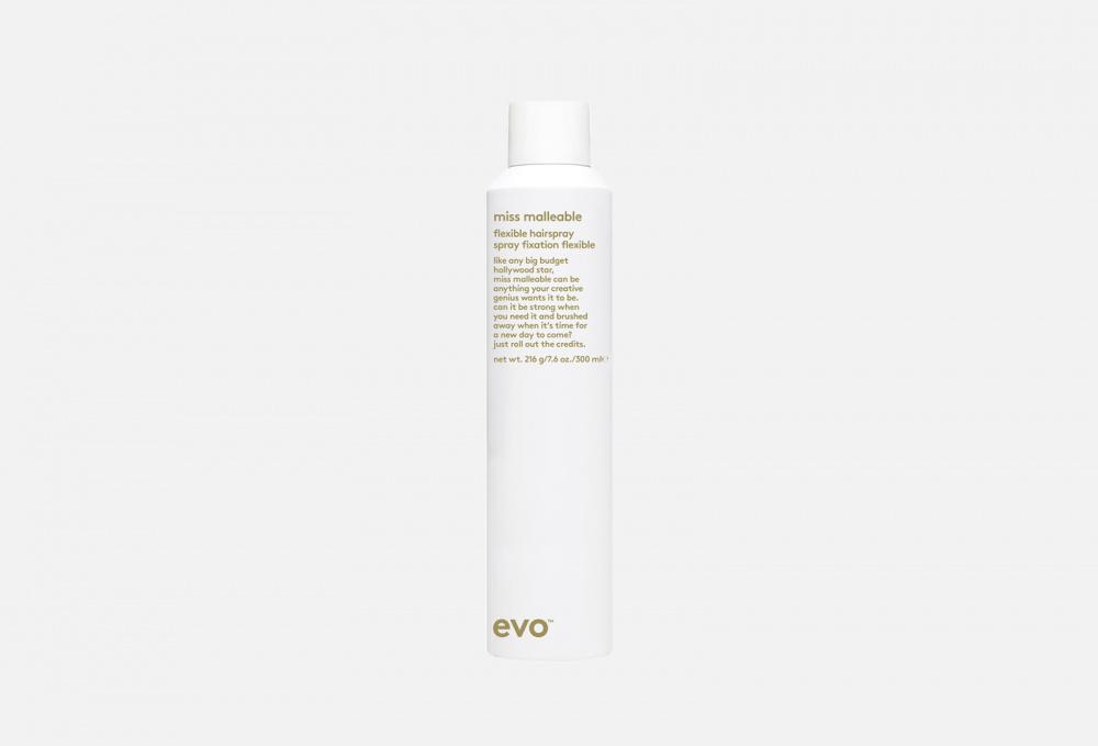 Лак подвижной фиксации EVO Miss Malleable Flexible Hairspray 300 мл [сэшн cпрэй флэкс] лак для укладки подвижной фиксации kevin murphy session spray flex 400 мл