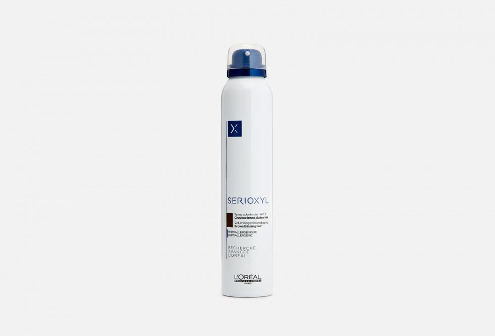 Цветной спрей-камуфляж LOREAL PROFESSIONNEL Spray Serioxyl Volumizing Coloured Brown 200 мл