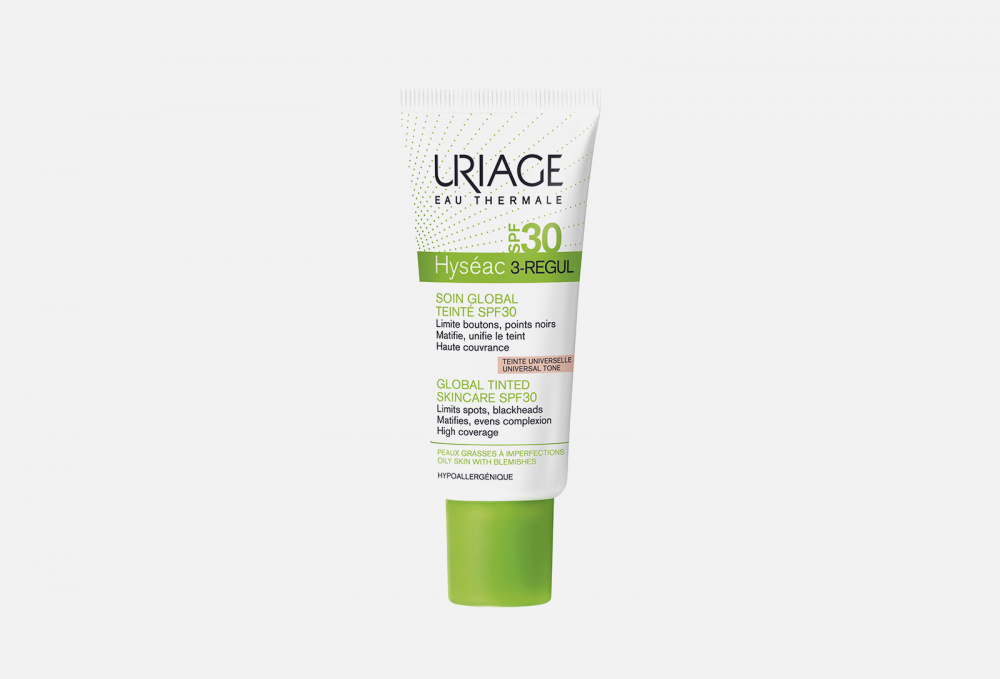 Купить HYSEAC 3-REGUL GLOBAL TINTED SKIN-CARE SPF 30, URIAGE, Бежевый