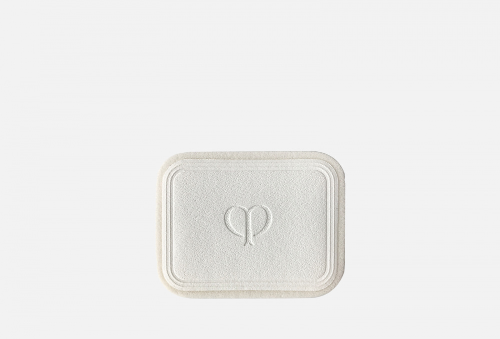 Спонж для компактной пудры, придающей коже яркость CLE DE PEAU BEAUTE Brightening Powder Foundation Sponge пуховка для прозрачной рассыпчатой пудры cle de peau beaute puff translucent loose powder 1 мл