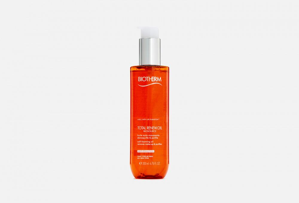 Фото - Масло для снятия макияжа BIOTHERM Biosource Total Renew Oil 200 мл biotherm biosource тонизирующий лосьон для нормальной и комбинированной кожи