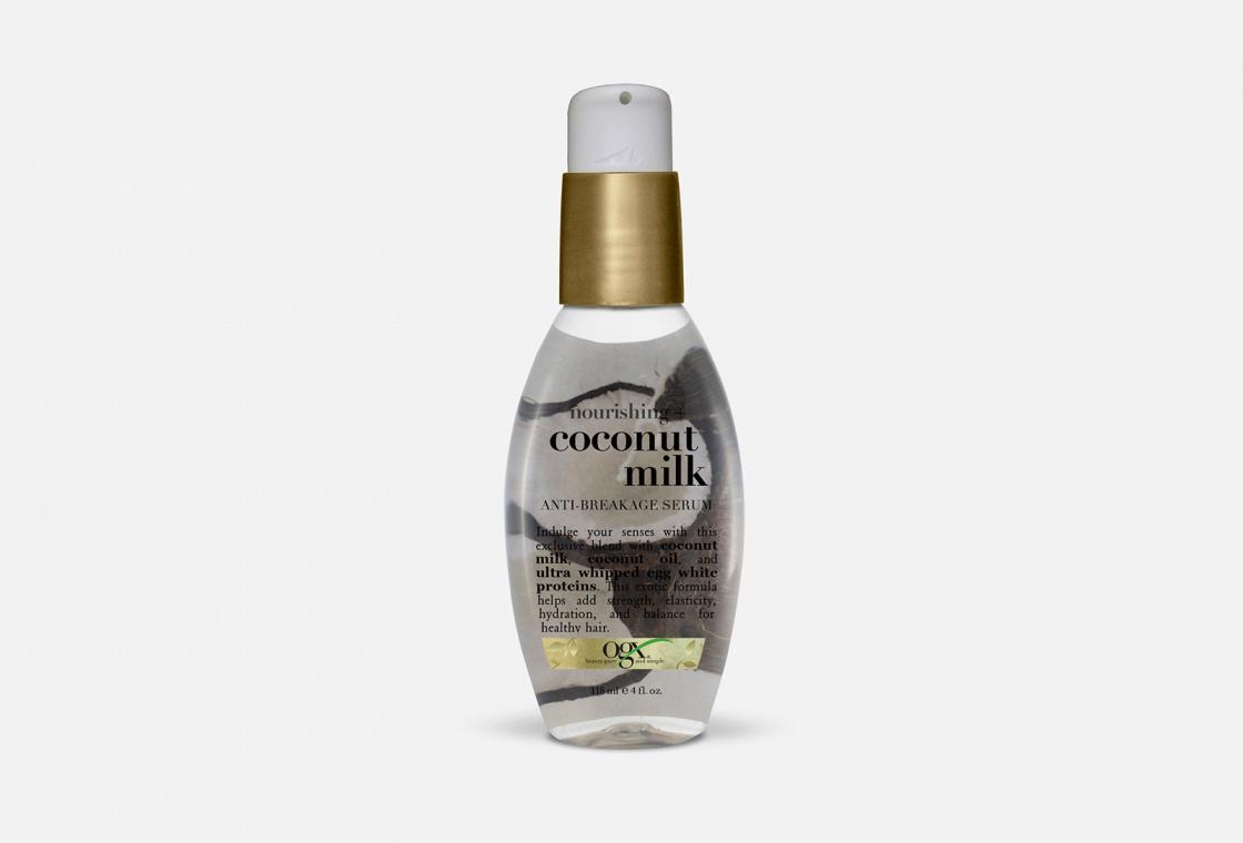 Питательная сыворотка против ломкости волос с кокосовым молоком OGX COCONUT MILK