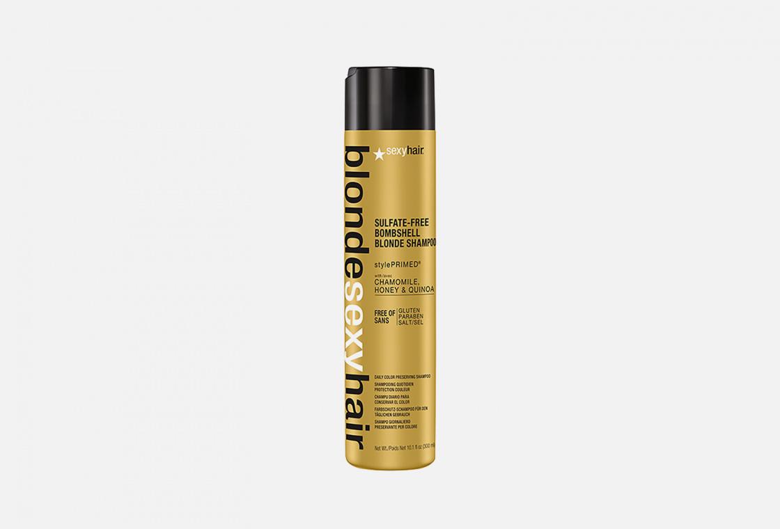 Шампунь для сохранения цвета Блонд без сульфатов  Sexy Hair SULFATE-FREE BOMBSHELL BLONDE SHAMPOO