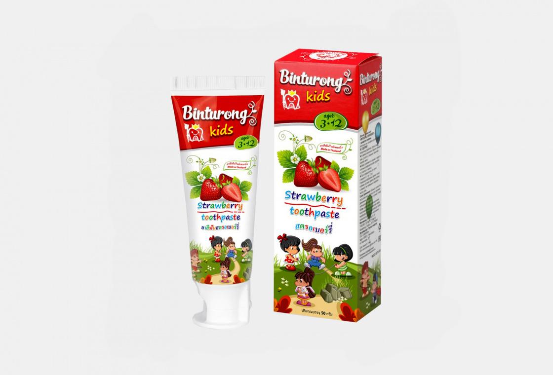 Детская зубная паста с ароматом клубники  Binturong With strawberry flavor