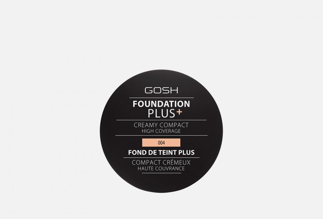 Пудра для лица компактная  кремовая Gosh Foundation Plus