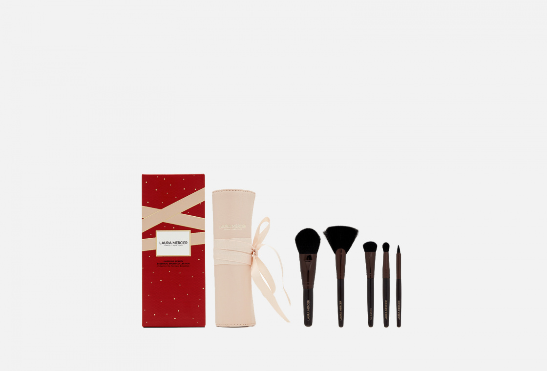 Набор кистей для макияжа в чехле  Laura Mercier SWEEPING BEAUTY