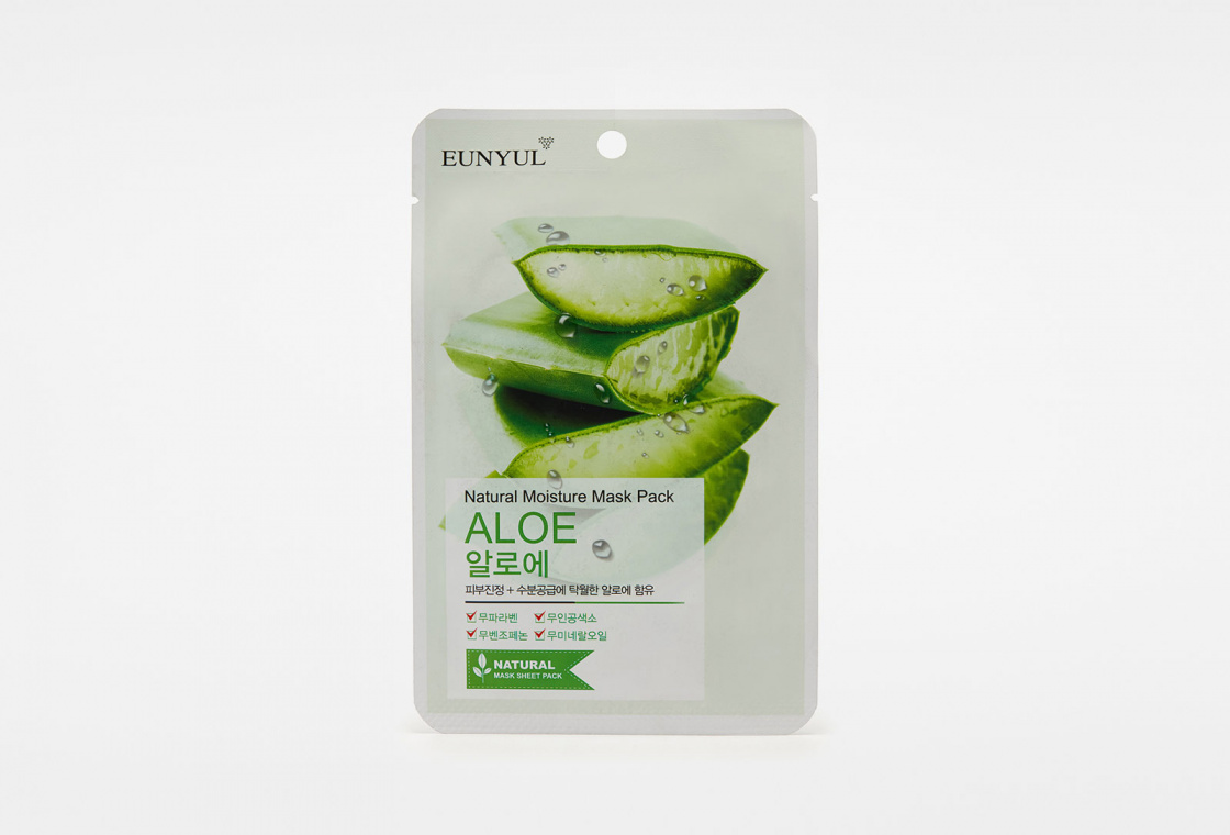 Маска с алоэ EUNYUL Natural Moisture Mask Pack Aloe