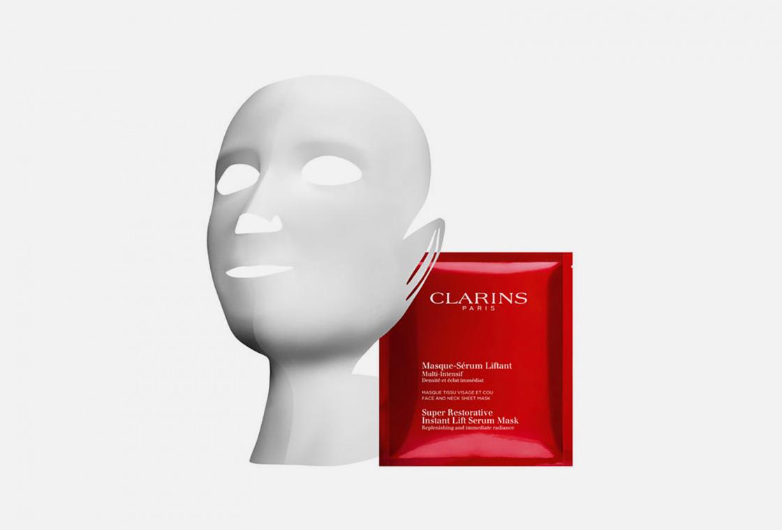 Набор восстанавливающих тканевых масок для лица и шеи с эффектом лифтинга  Clarins Multi-Intensive