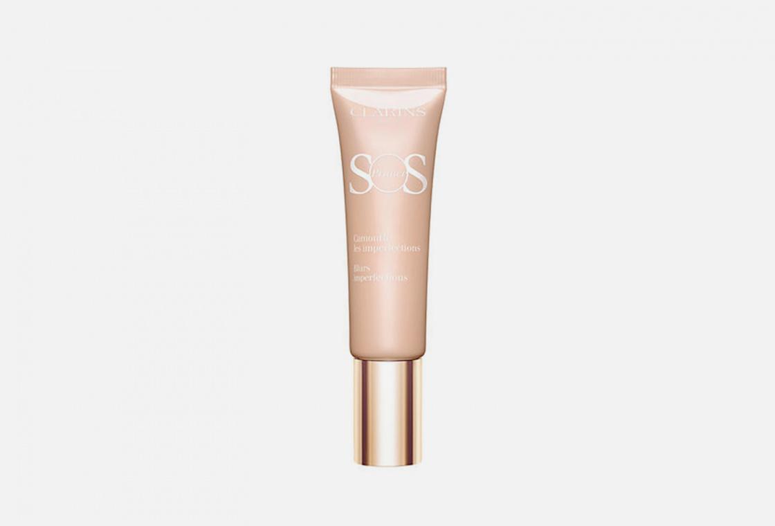 База под макияж, корректирующая несовершенства кожи Clarins SOS Primer 02
