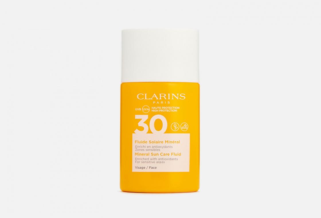 Cолнцезащитный флюид для лица SPF 30  Clarins Fluide Solaire Minéral Visage