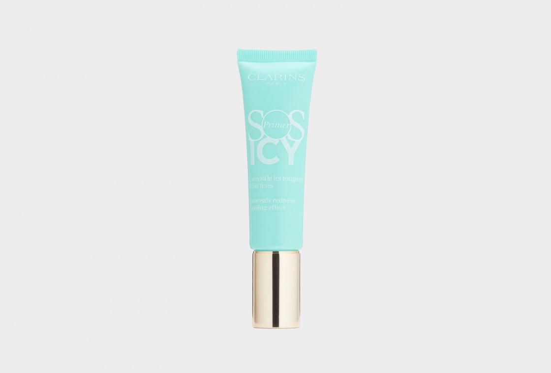 Охлаждающая база под макияж, корректирующая покраснения 10 30 мл Clarins SOS Primer Icy