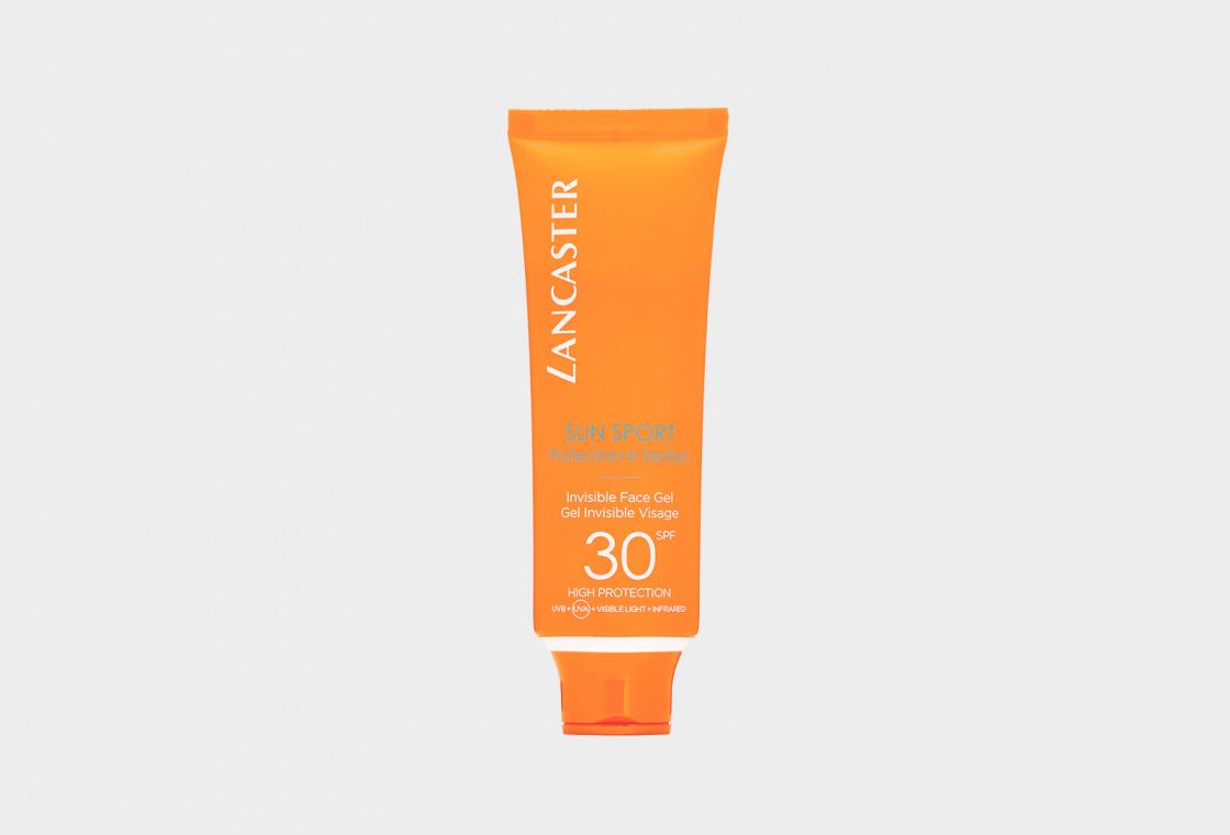 Водо- и потостойкий солнцезащитный гель для лица SPF30 LANCASTER Sun Sport Invisible Face Gel Matte Finish