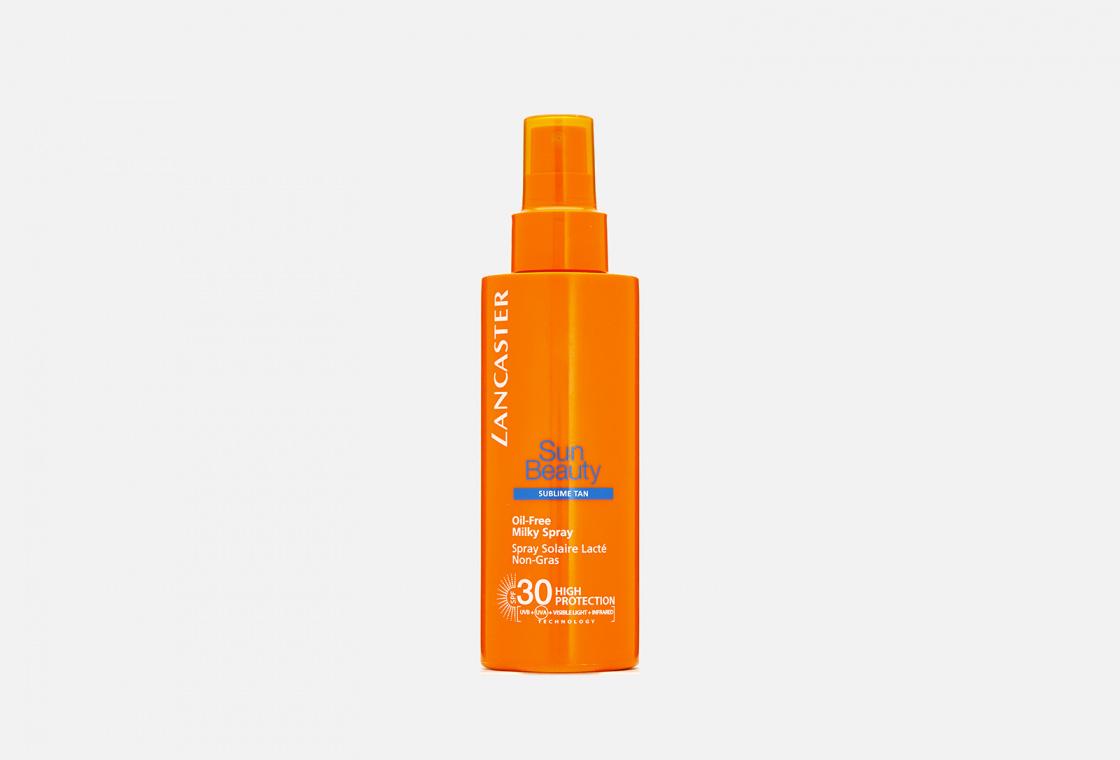 Обезжиренное молочко-спрей SPF30 LANCASTER SPF30 Sun Beauty Oil-Free Milky Spray Великолепный Загар