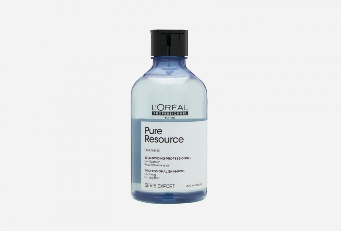 Глубоко очищающий шампунь для волос, склонных к жирности L'Oreal Professionnel Shampoo Serie Expert Pure Resource